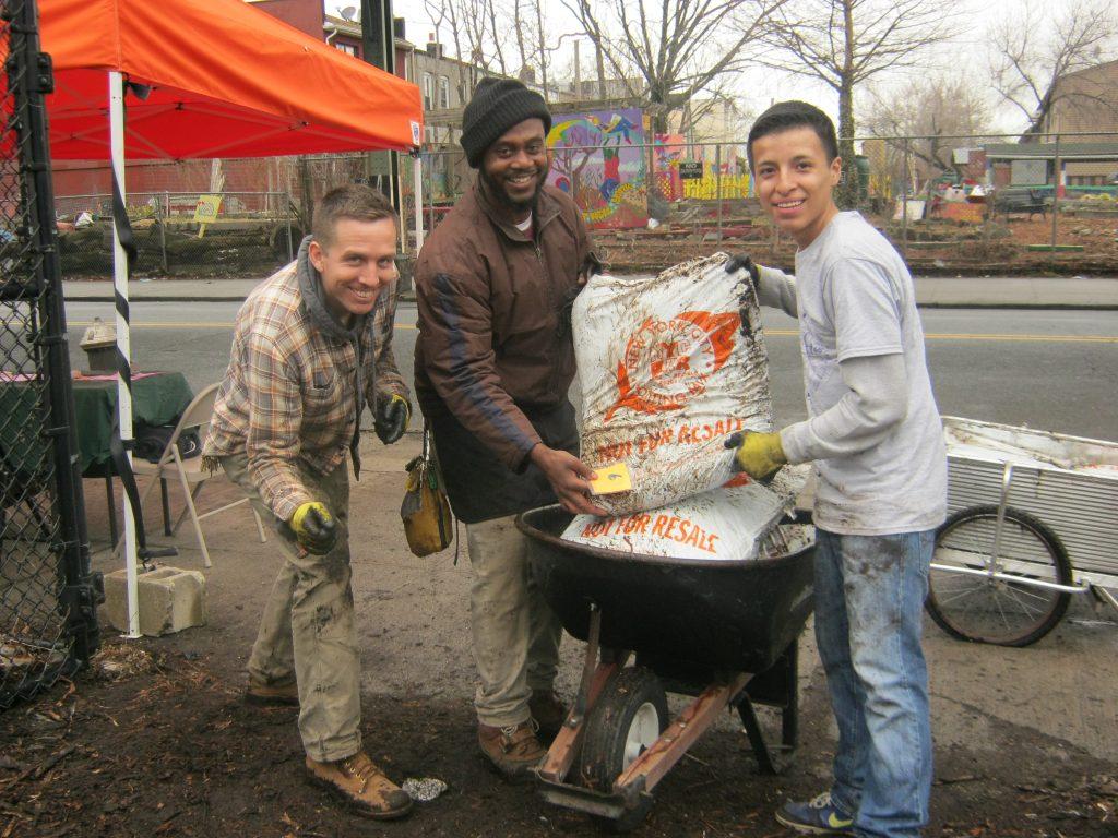 Compost Give Away David Vigil, Daryl Marshal and Calect Flores